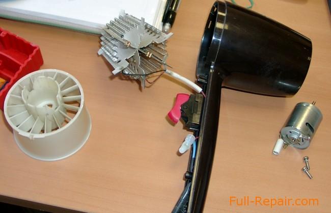 Ремонт двигателя фена для волос